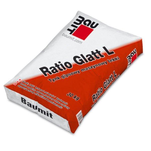 BAUMIT RATIO GLATT L TYNK GIPSOWY MASZYNOWY LEKKI 30KG