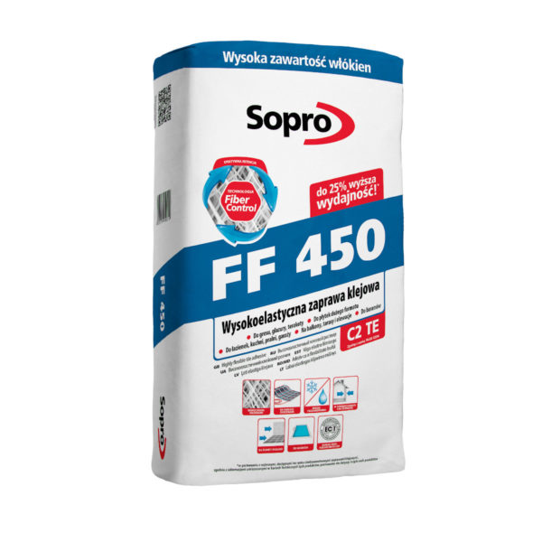 SOPRO FF 450 – WYSOKOELASTYCZNA ZAPRAWA KLEJOWA 25KG
